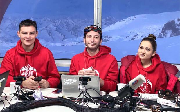 Новый рекорд «Европы Плюс»! Утреннее шоу «Бригада У» вышло в эфир с Эльбруса - Новости радио OnAir.ru