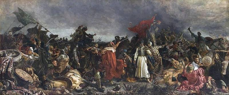 «Битва под Цецорой 1620 года». Художник Витольд Пивницкий, 1878 г.