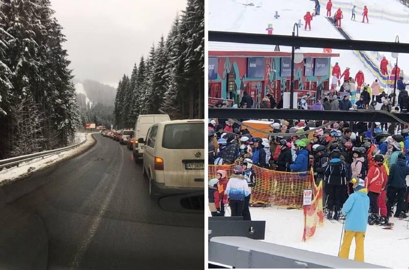 Пробки в Карпатах и «локдаун» в Буковеле