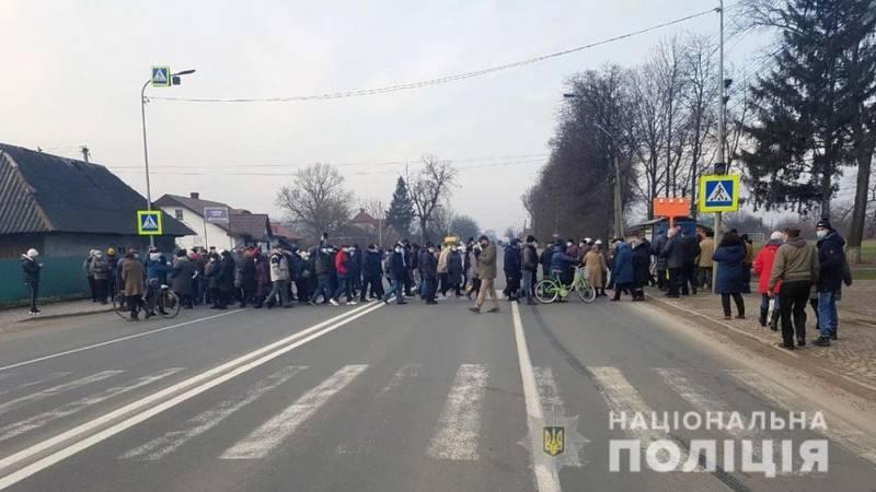 Перекрытие трассы в Черновцах