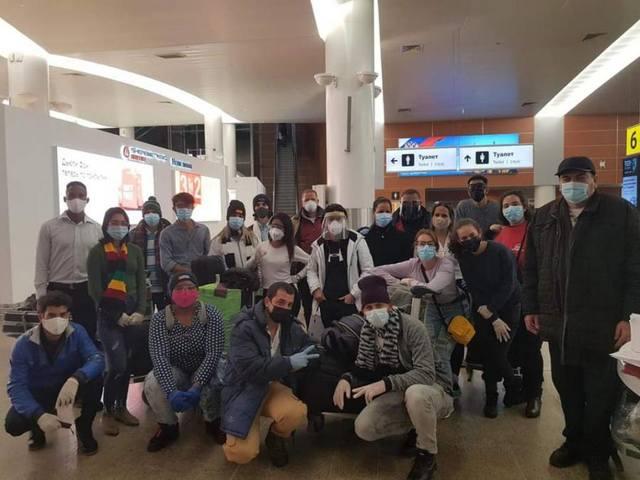 Большая группа кубинских студентов прибыла в Россию
