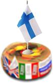 аватар (ВЕЛИКОВАТ) турнира Дружба народов для финского языка (торт с флажком Финляндии) _210131 ©GenuineLera, 2020