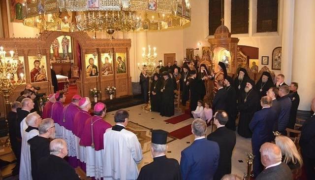 Совместная молитва с католиками во время визита патриарха Варфоломея в Бельгию