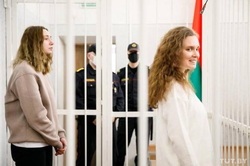 Журналистки польского телеканала «Белсат» Андреева и Чульцова в зале суда