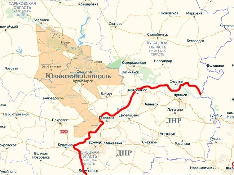 Карта Юзовского месторождения