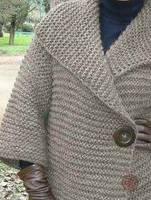 Пальто платочной вязкой 1б