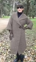 Пальто платочной вязкой 2а