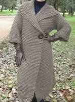 Пальто платочной вязкой 1а