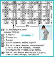 Кардиган ажур ромбы 121-2