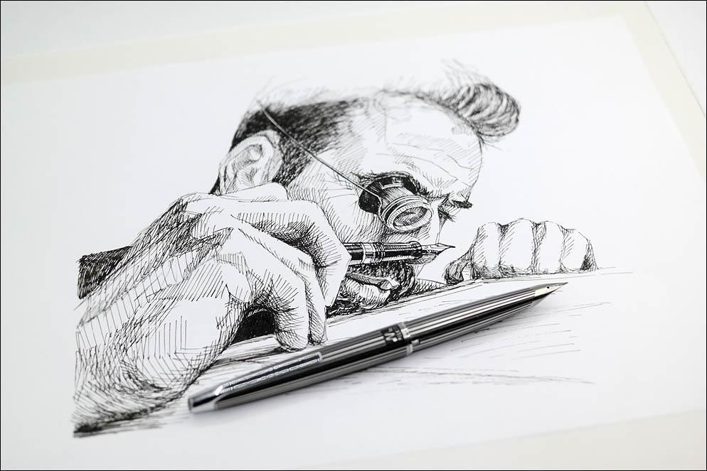 Nibmeister at work. Lenskiy.org