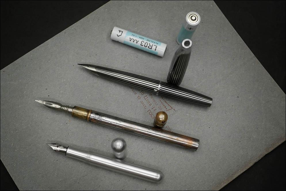 Battery AAA vs Pilot Myu vs vtg. Portable holder vs Kaweco Liliput. Lenskiy.org