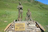 Памятник строителям у Чуйского тракта - главной трассы Горного Алтая. Фото Морошкина В.В.