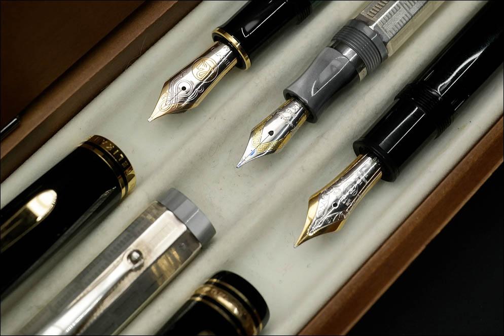 Pelikan Souveran M1000 vs Montegrappa Privilege Deco Oversize vs Montblanc Meisterstuck 149. Lenskiy.org