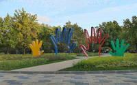 В парке 50-летия Октября. Фото Морошкина В.В.
