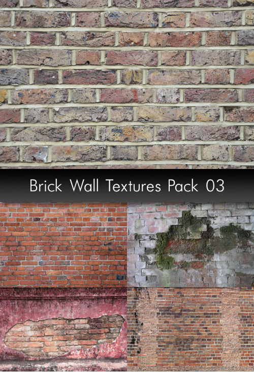 Brick Wall Textures, pack 3