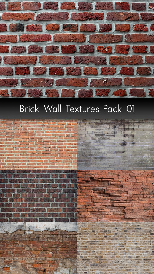 Brick Wall Textures, pack 1