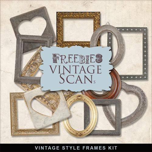 Scrap Kit - Vintage Frames, pack 2