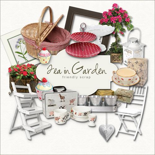 Scrap Kit - Tea in Garden