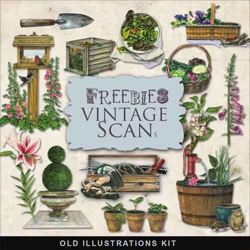 Scrap Kit - Vintage Gardening