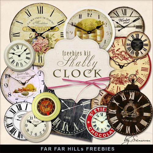 Scrap Kit - Shabby Clocks