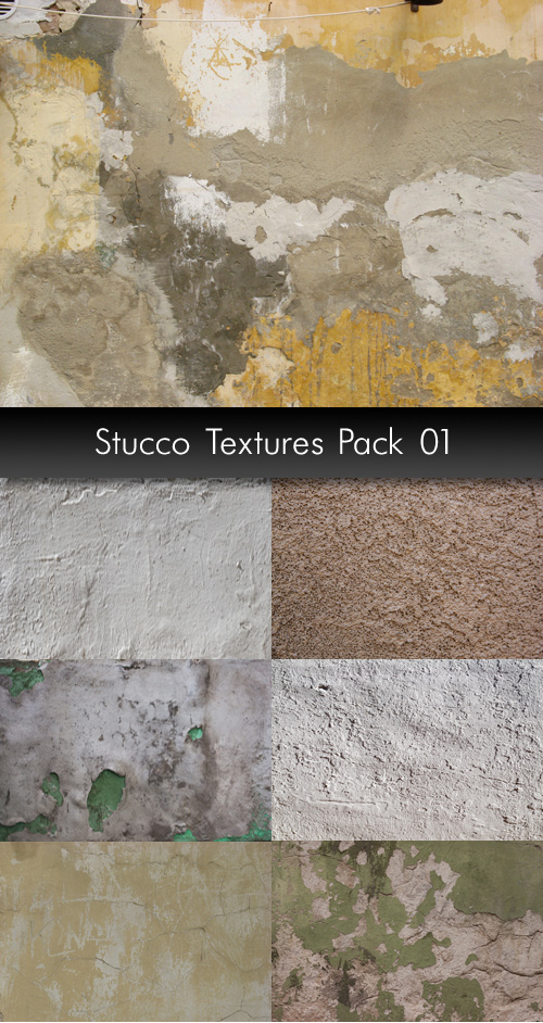 Stucco Textures, pack 1