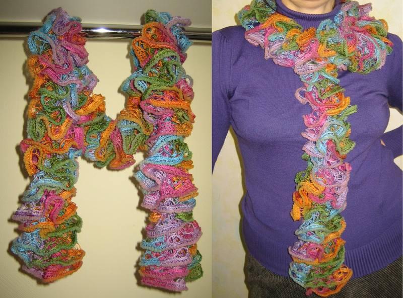Вязание шарфа из ниток 71