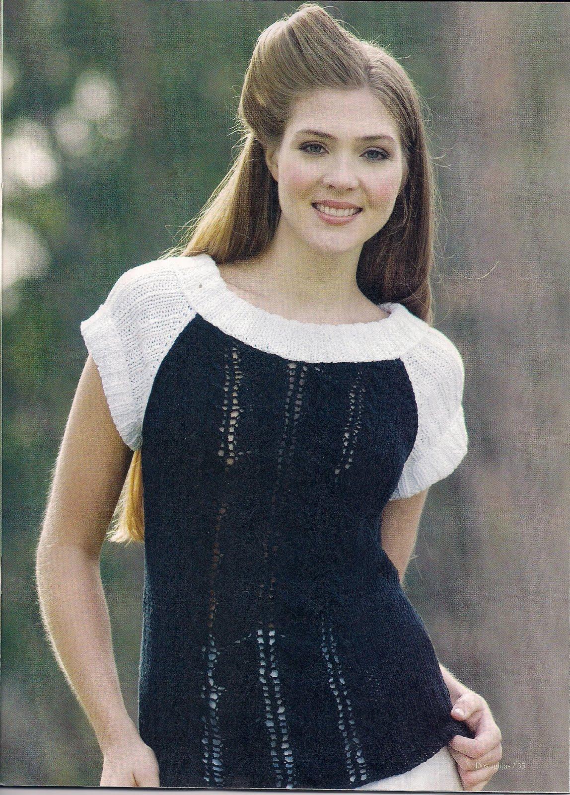 Вязание спицами черно белое 5