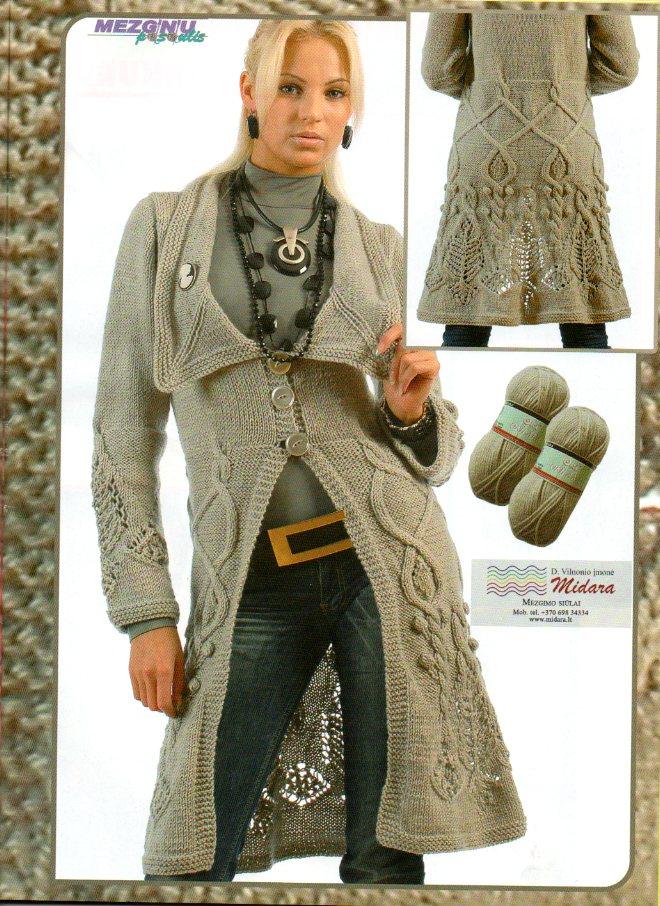 Вязание спицами пальто женский. Мастер класс как вязать пинетки крючком со
