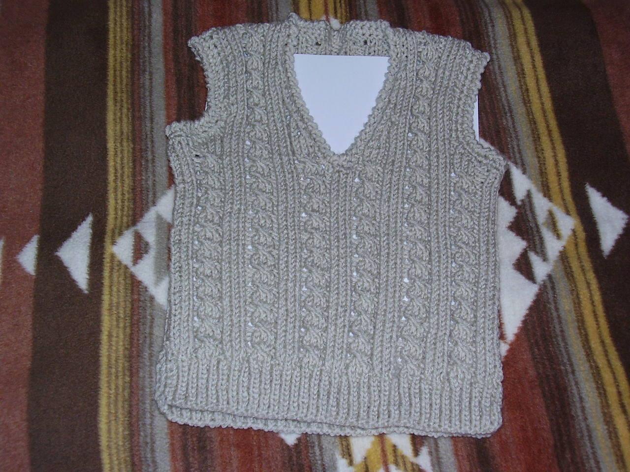 Вязание горловины на детской жилетки Жилетка для чайников - вязание спицами для детей