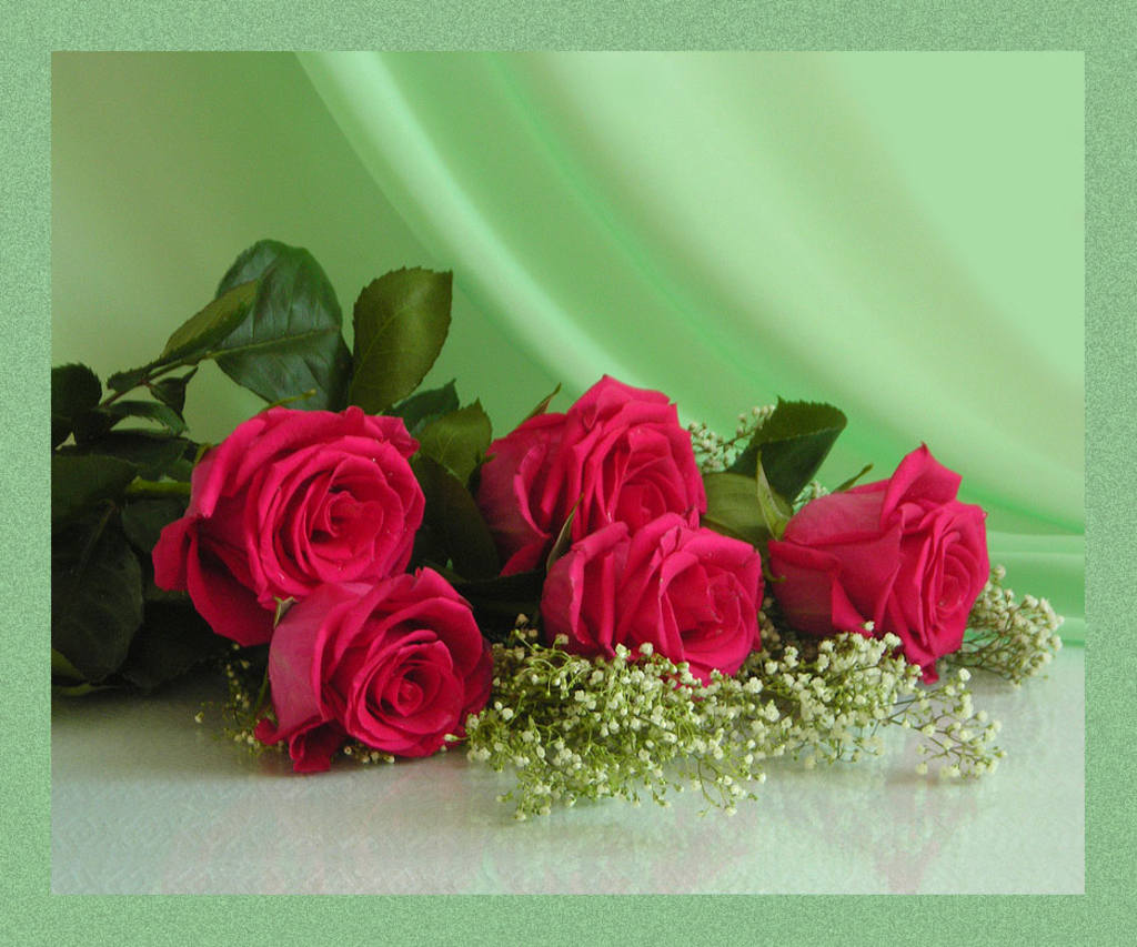 Открытки и картинки с розами с днем рождения женщине 7