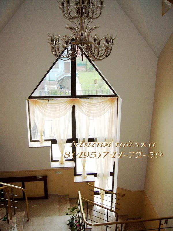 Шторы на треугольные окна фото
