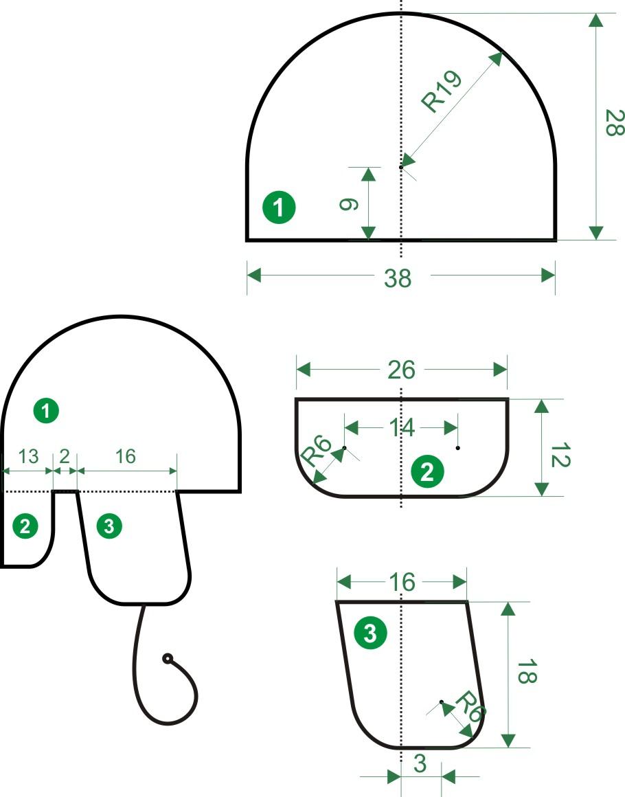 Как сделать выкройку варежек из меха мутона