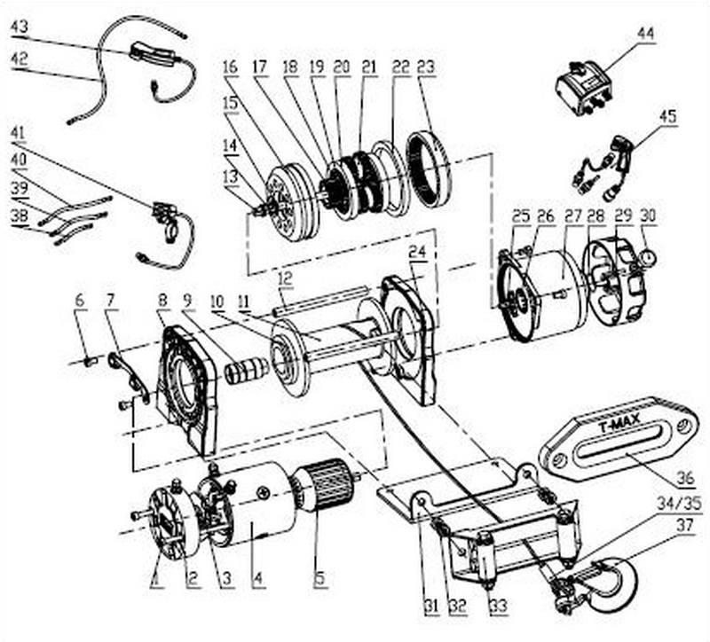 Лебедка автомобильная электрическая T-MAX ATW-6000 Performance 12В с синтетическим тросом.
