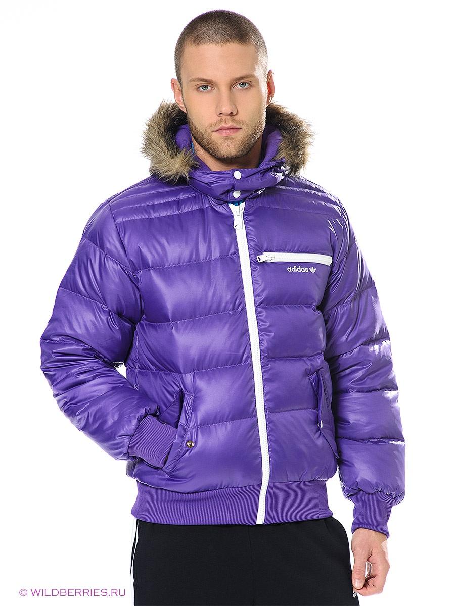 куртка адидас сиреневая