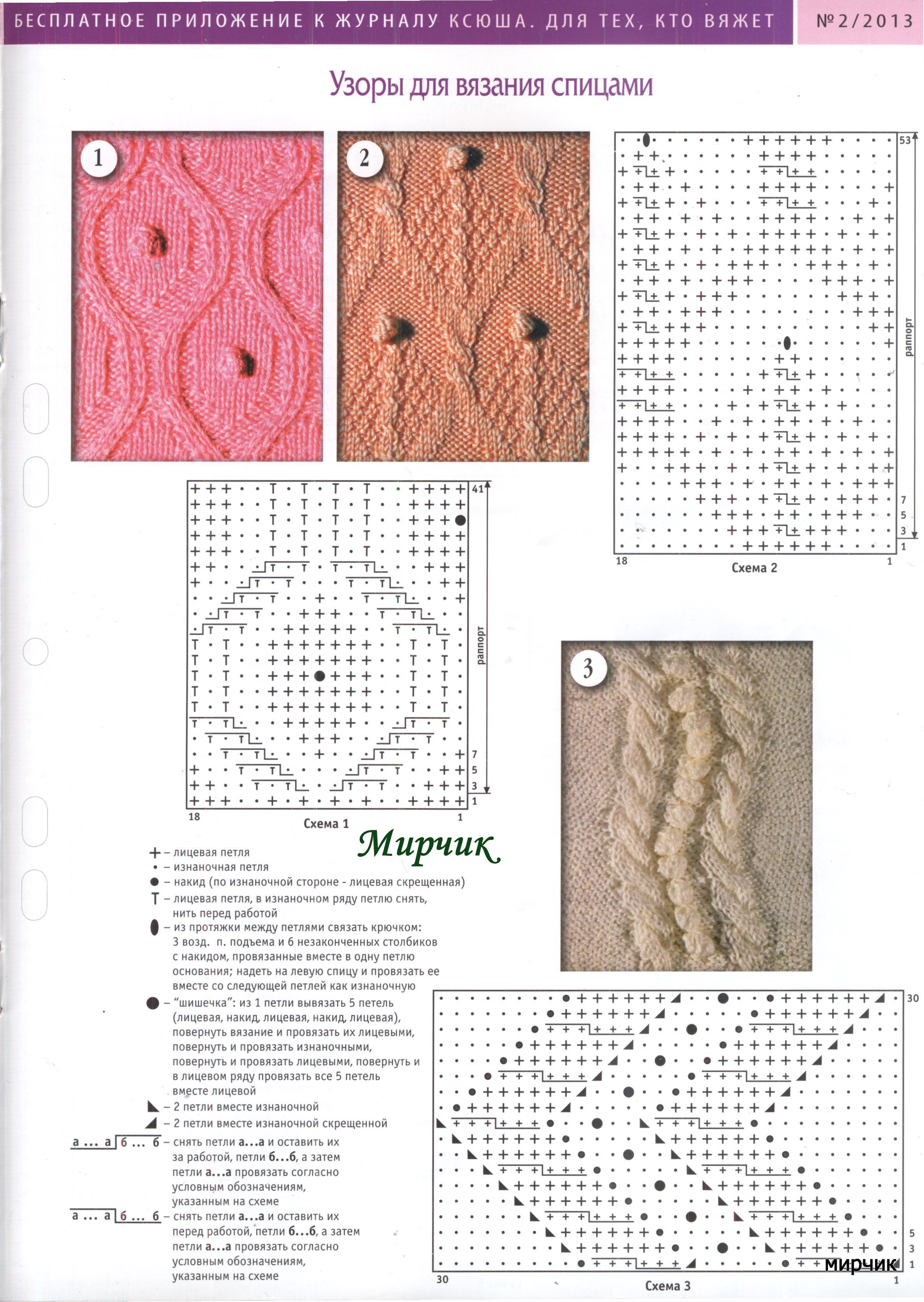 У ксюши вязание спицами схемы