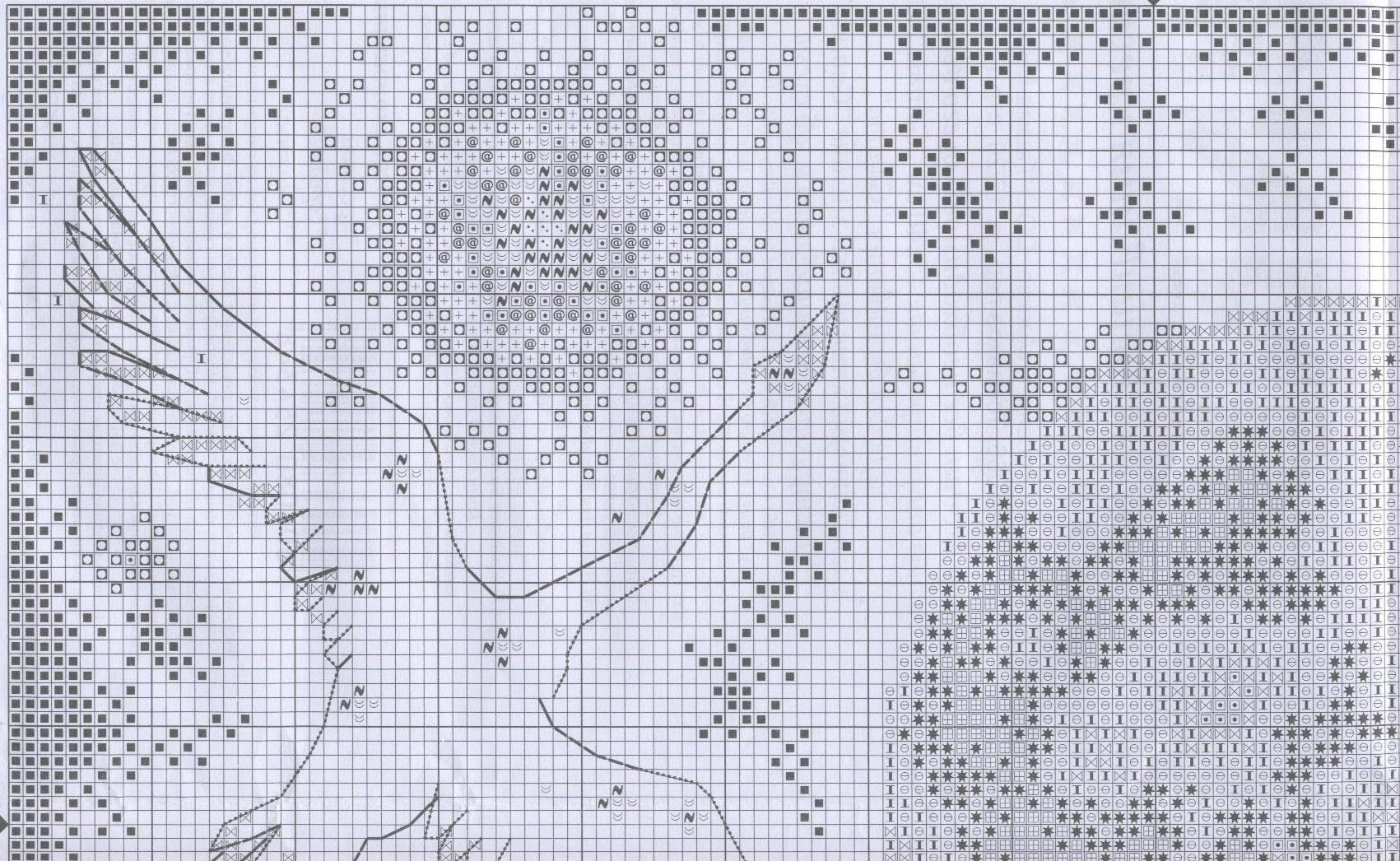 Вышивка крестом схема лебедь на черном
