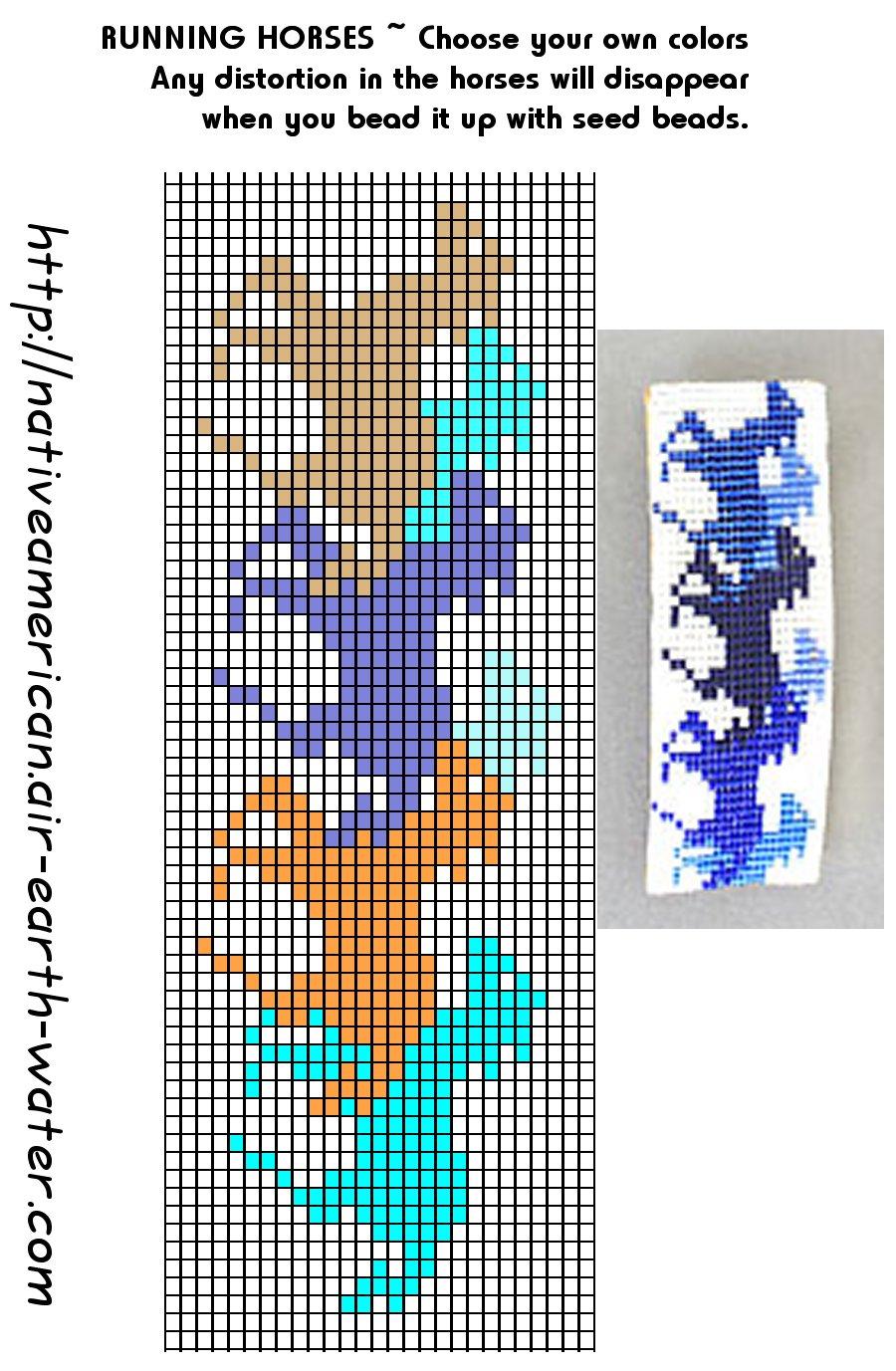Схема станочного бисероплетения