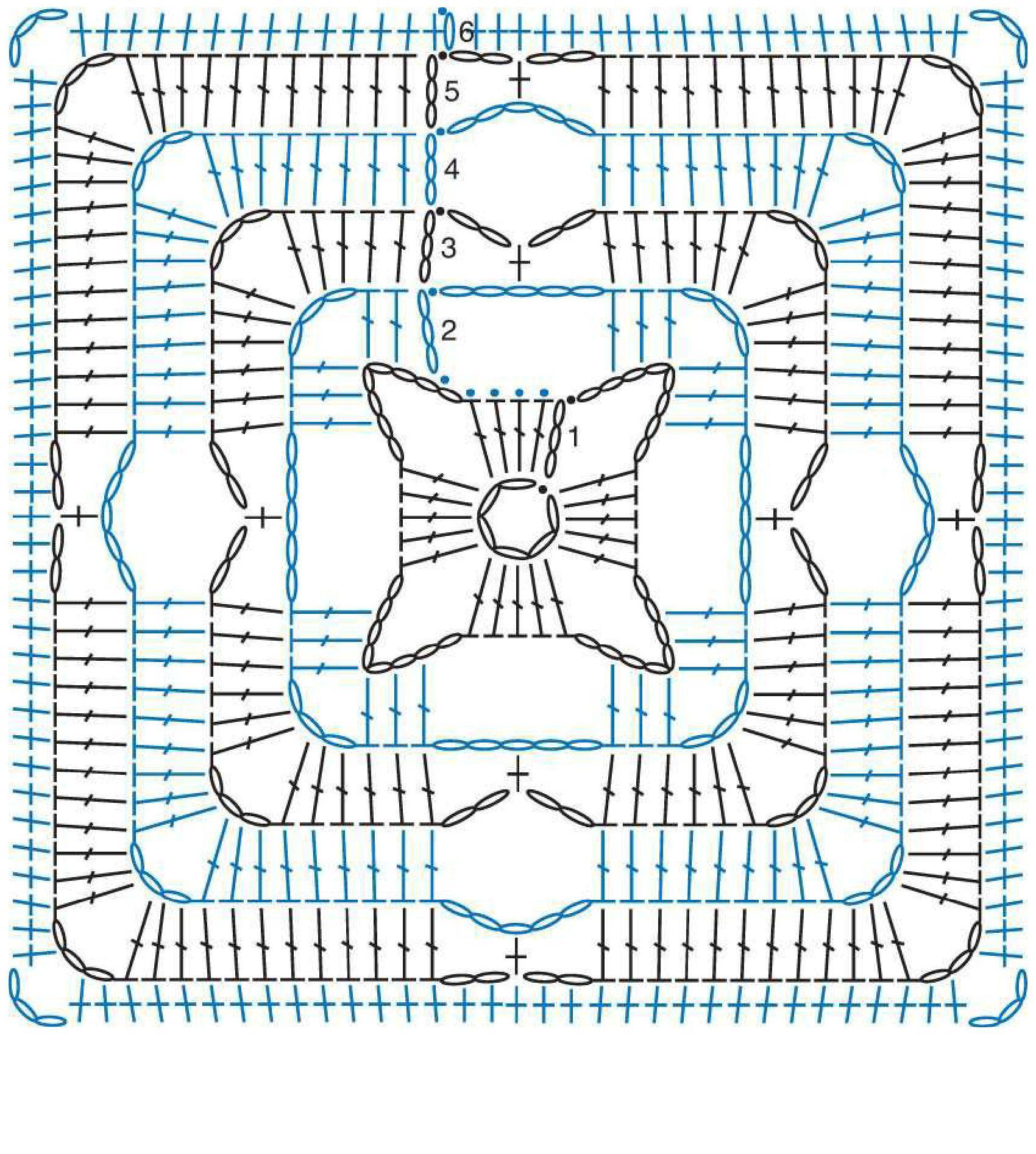 Схема бабушкиного квадрата фото
