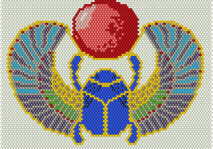 Вышивка жук скарабей