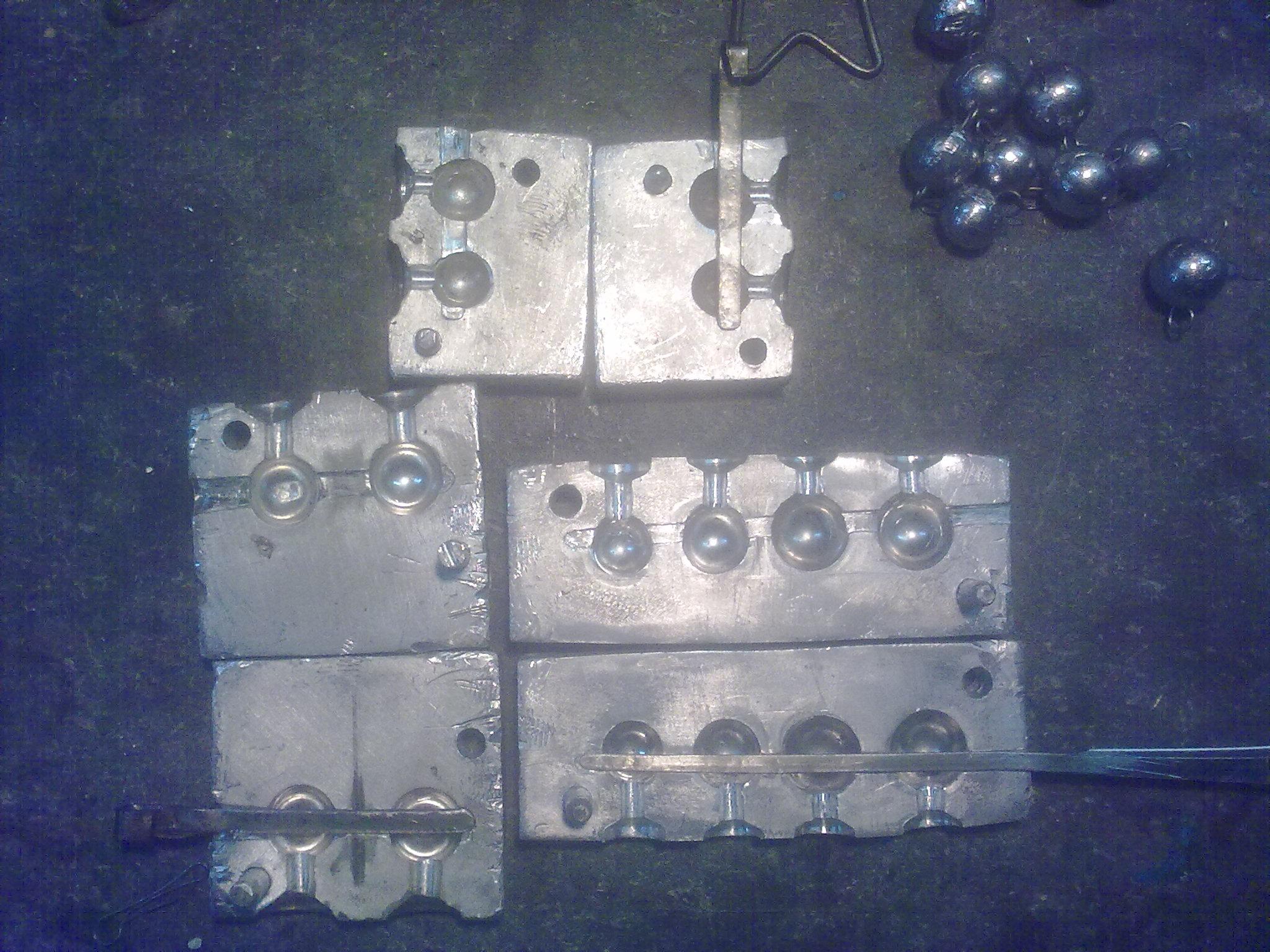 Форма из алюминия для грузил