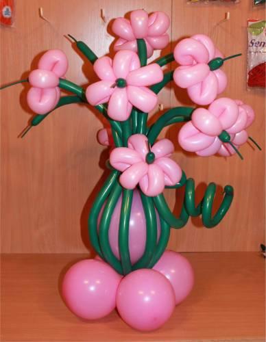 Цветы из шаров видео