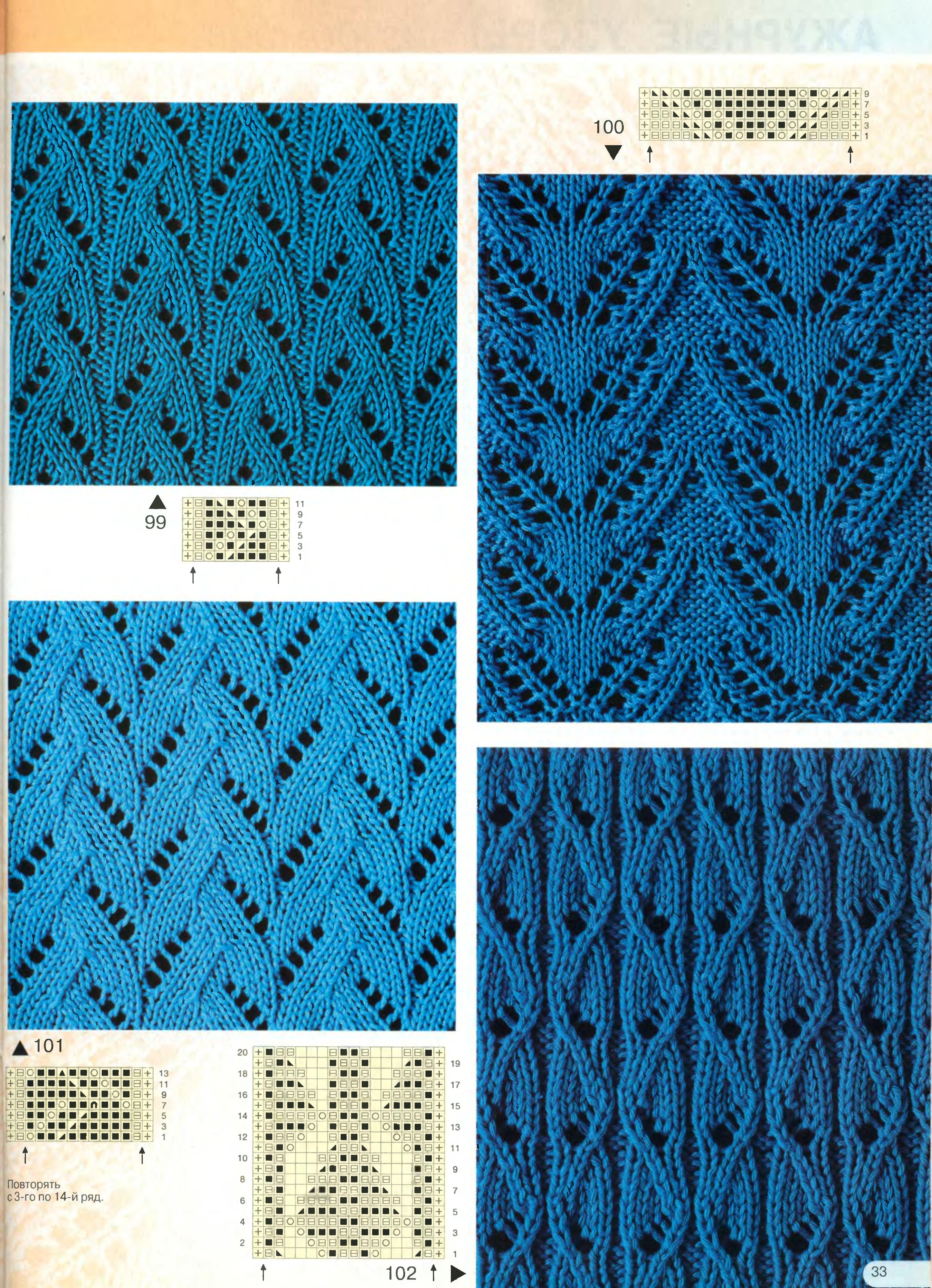 Наилучшие узоры вязания спицами