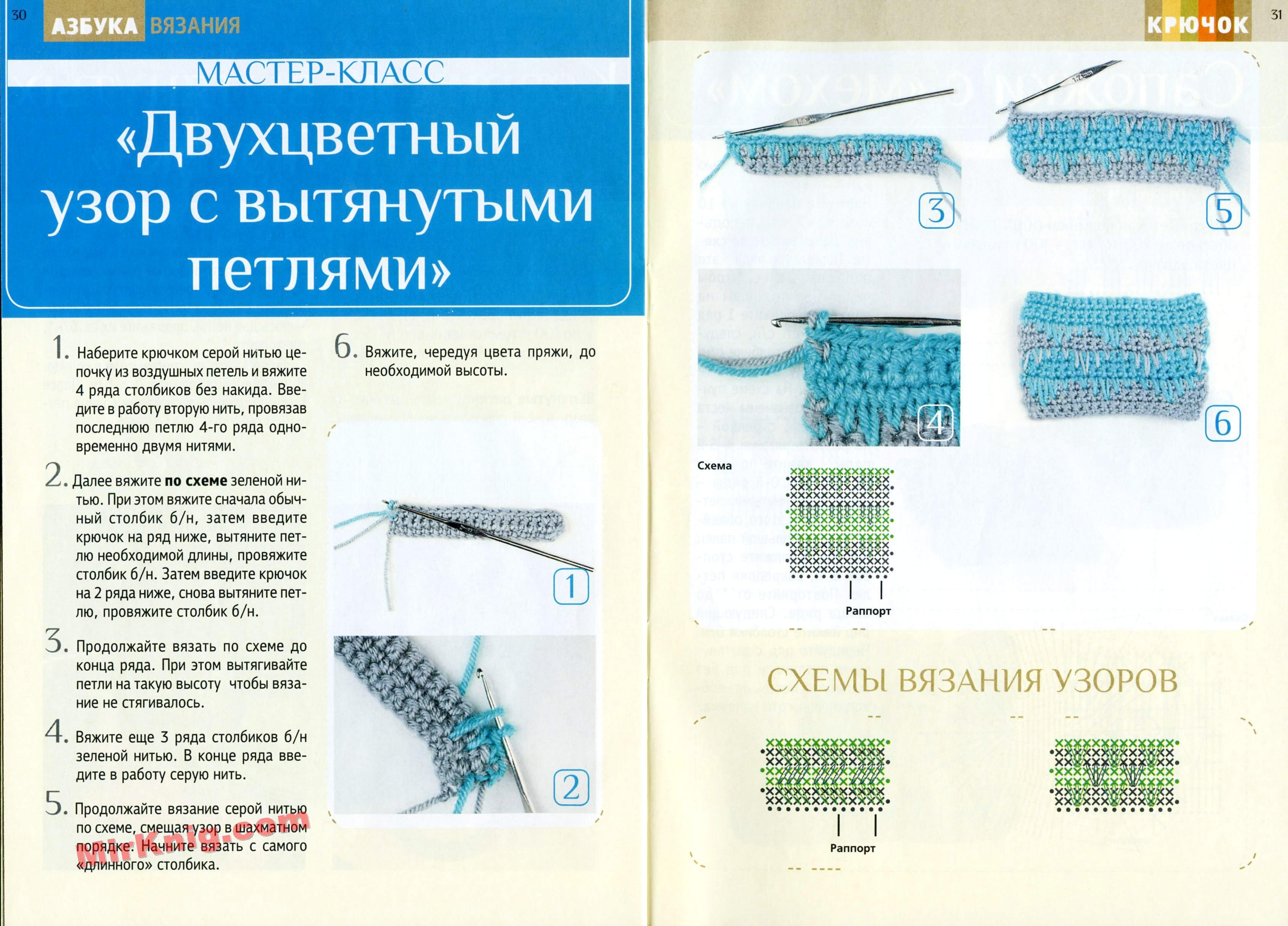Вязание спицами вытянутые петли для начинающих