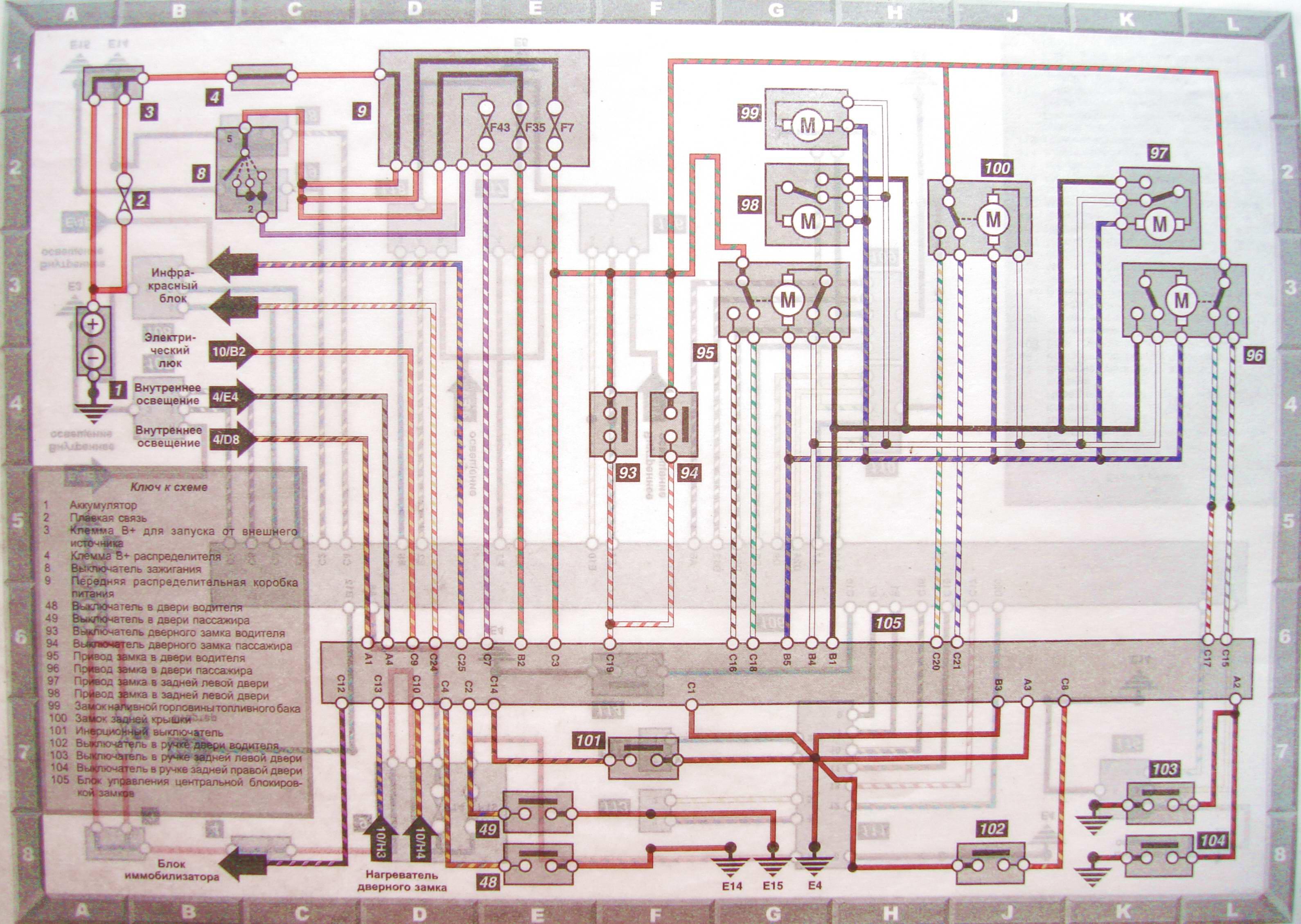 Bmw 316 схема проводки