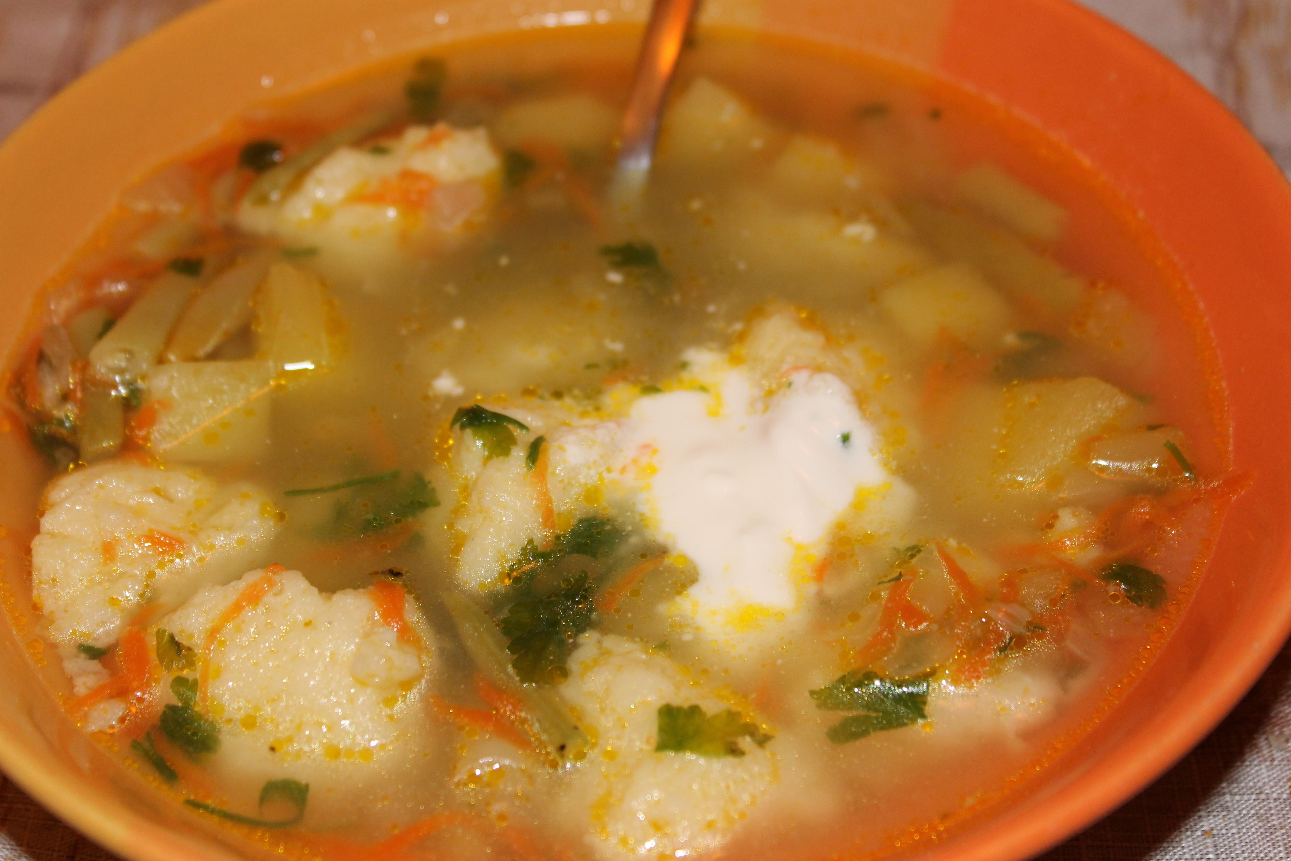 Суп с сырными рулетиками пошаговый рецепт