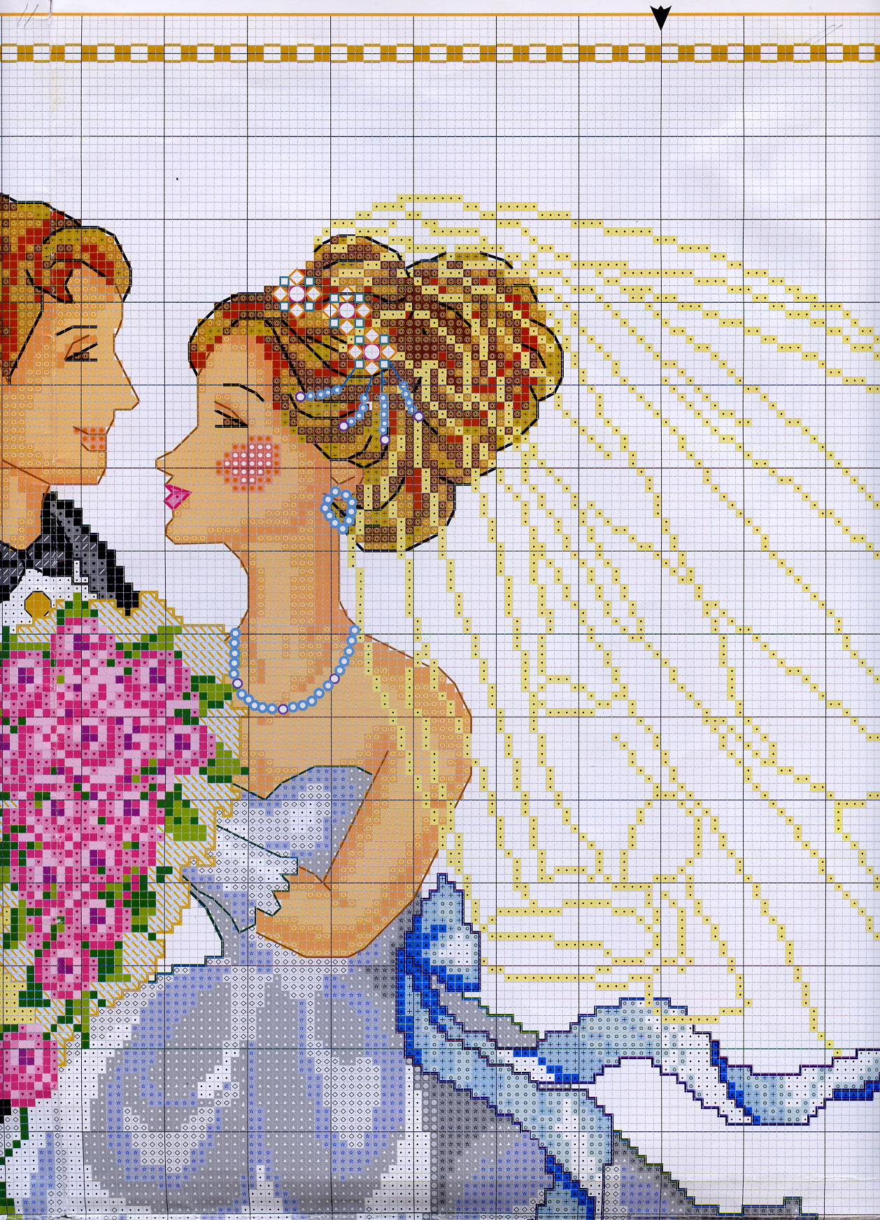 Вышивка крестом свадебные метрики красивые