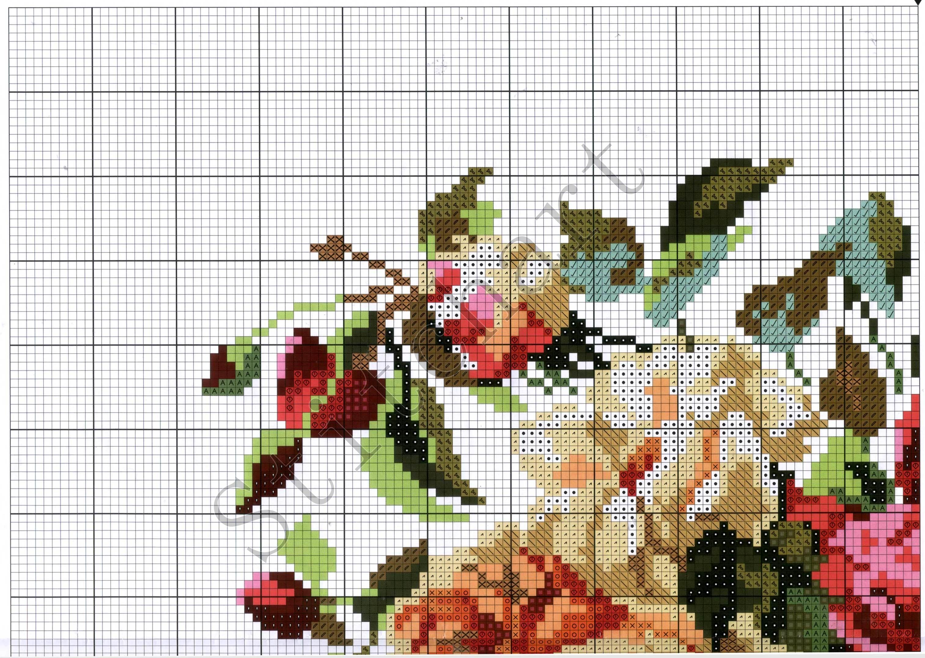 Вышивка крестом цветы розы схемы