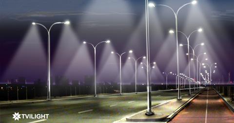 умная сеть уличных фонарей