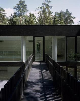 черно-белый дом