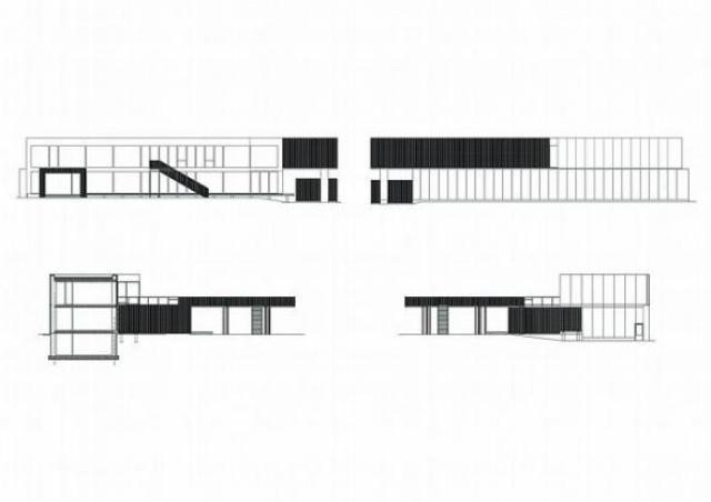 черно-белый дом план
